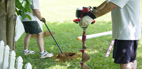 Fence Post Hole Digging
